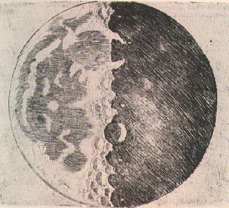 Moon, Galileo Galilei, 1610