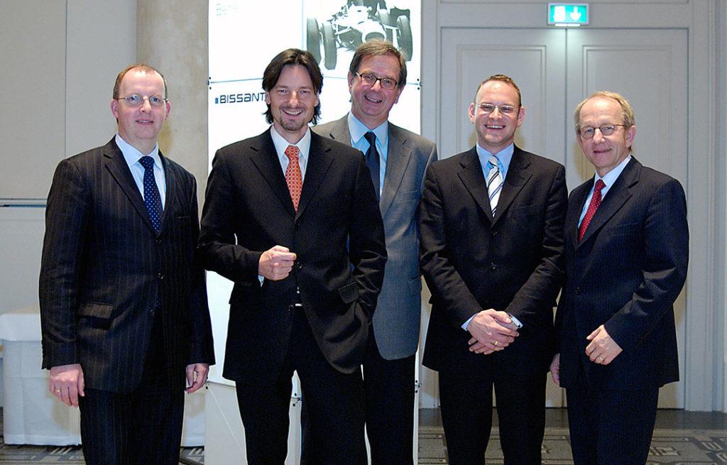 Gruppenbild der Referenten v. l. Jens Ritterhoff, Dr. Nicolas Bissantz, Professor Dr. Sven Piechota, Axel Köhnken, Dr. Rolf Hichert