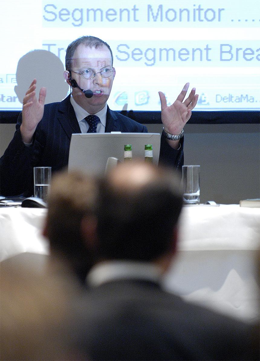 Bissantz Executive Forum Berlin 2007 - Referent: Jens Ritterhoff während seines Vortrags