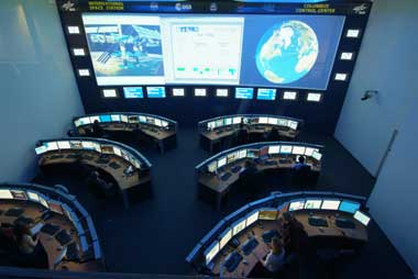 Columbus mission control center