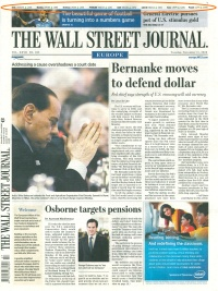 Source: WSJ Europe, 2009-11-17, p. 1