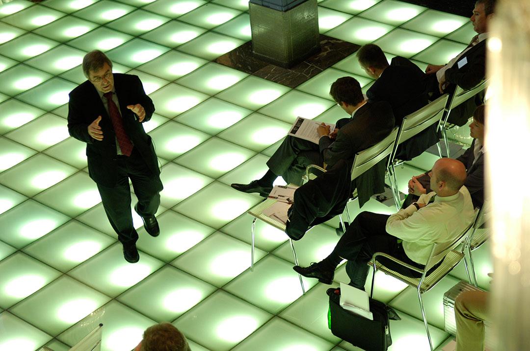 Bissantz Executive Forum Berlin 2009 - Referent Hans-Juerg Brunner während seines Vortrags