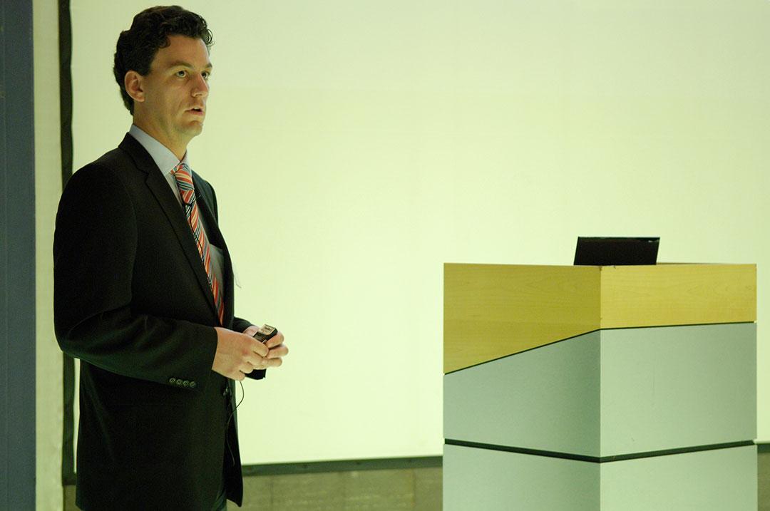 Bissantz Executive Forum Berlin 2009: Referent Dr. Robert Butscher während seines Vortrags