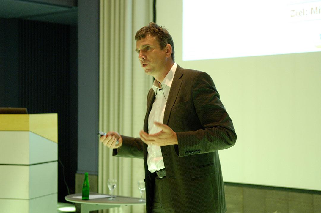 Bissantz Executive Forum in Berlin 2009 - Referent: Thomas Hellerich während seines Vortrags
