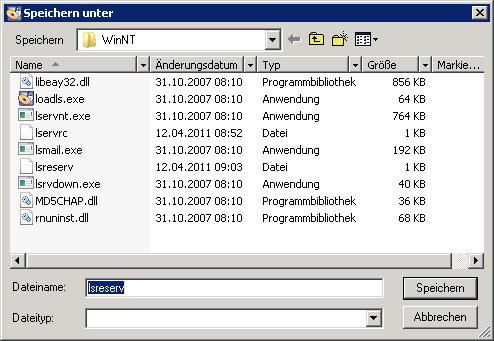 Datei speichern