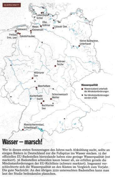 Wasser - marsch! Quelle: Der Spiegel, 26.05.2012, Seite 18.