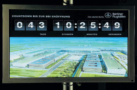 countdown in the visitor center of the new Berlin-Brandenburg Airport. Source: FAZ, 2012-05-24, page 3.