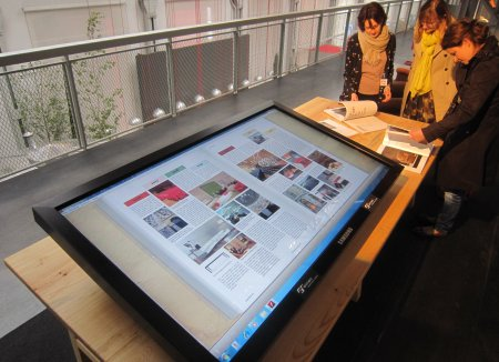 Großbildschirm mit Touchscreen