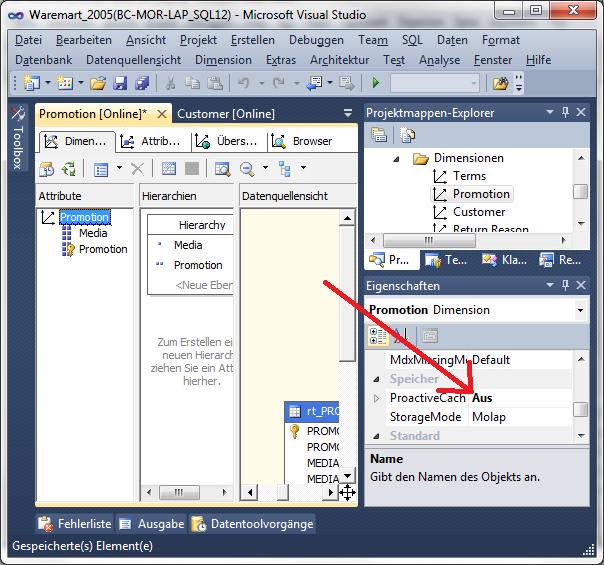 Visual Studio proaktives Caching