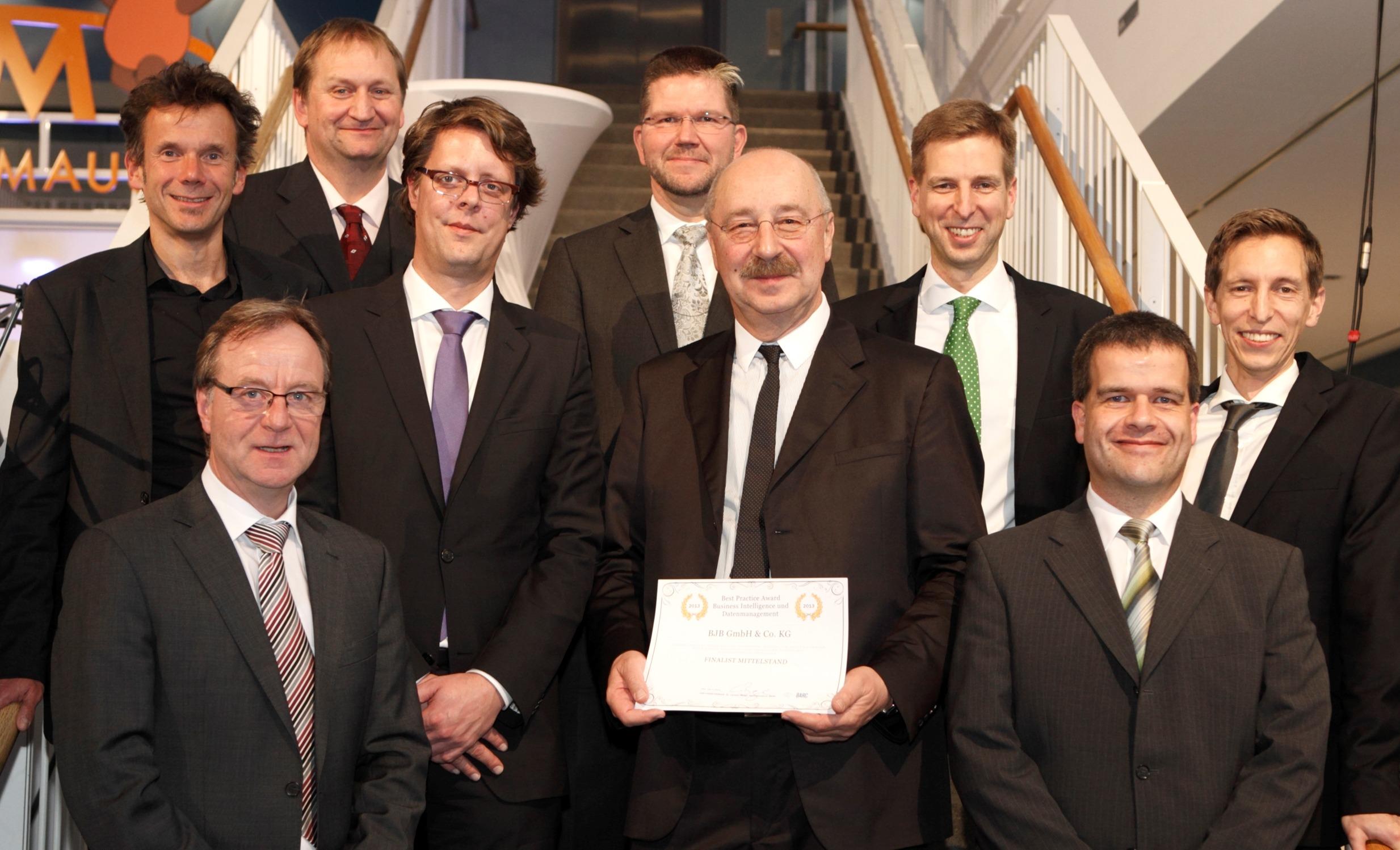 BARC Best Practise Award BI 2013 - Zweiter Sieger: Gruppenbild BJB und BARC