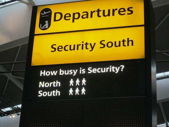 How busy is security? London Heathrow, Terminal 5.