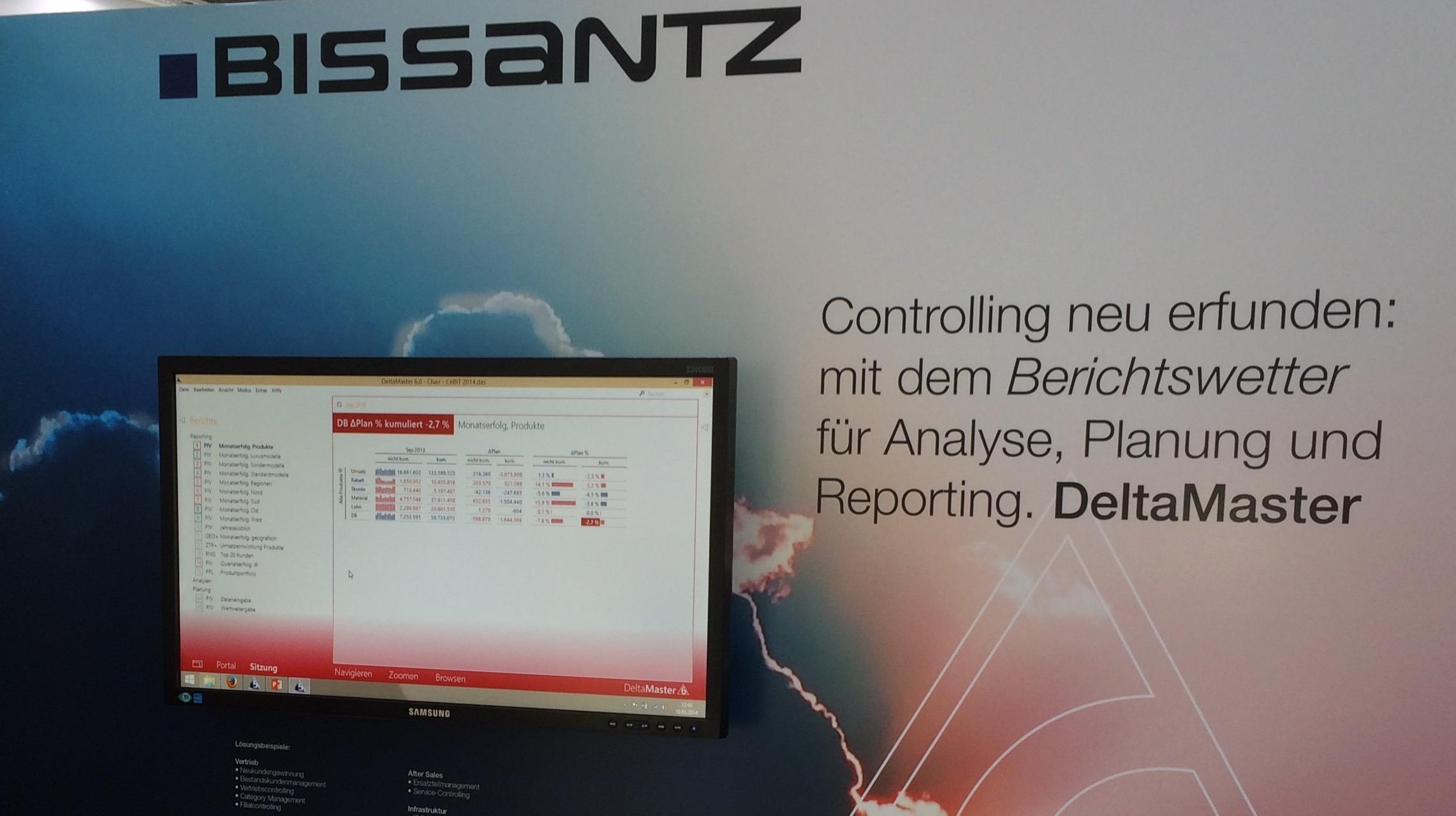 Cebit Hannover 2014: DeltaMaster 6 - Berichtswetter für Ihr Controlling - Cebit Hannover 2014: Bissantz stellt die neue Generation von BI-Software vor