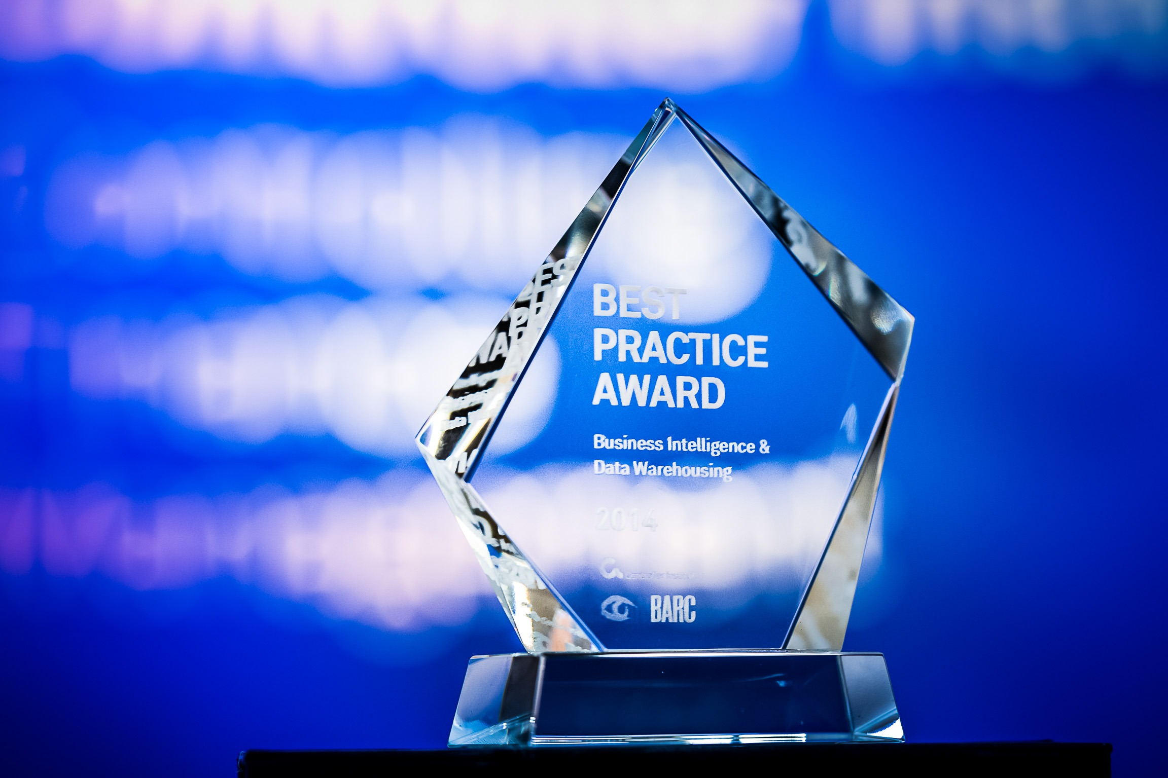 Bild der Trophäe des Best Practise Awards 2017 der ÖCI-BARC Tagung