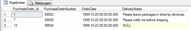 Ergebnis im SQL Management Studio