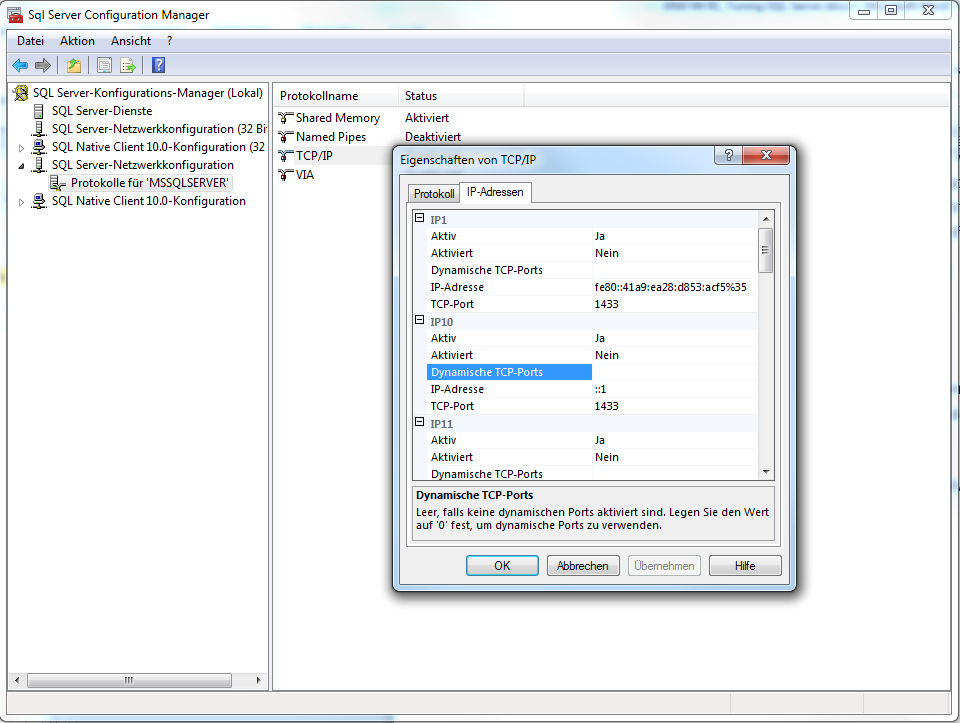 Abbildung 12: SQL Server Configuration Manager