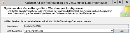 Abbildung 3 Assistent mit Datenbankauswahl /-anlage