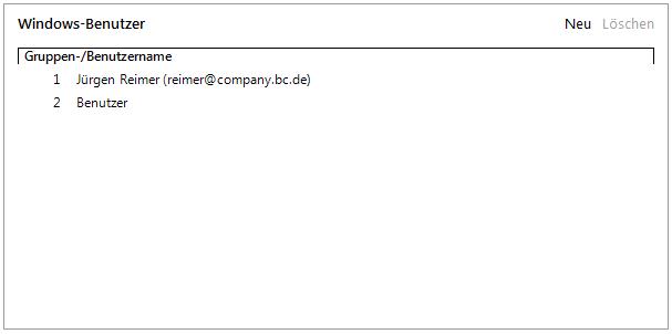 Abbildung 8 Windows-Benutzer