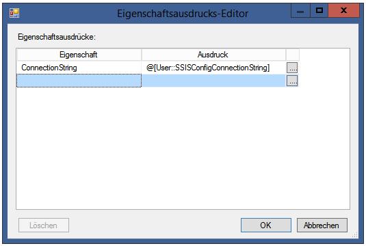 Abbildung 4 Konfiguration der Verbindung mit der Konfigurationsdatenbank