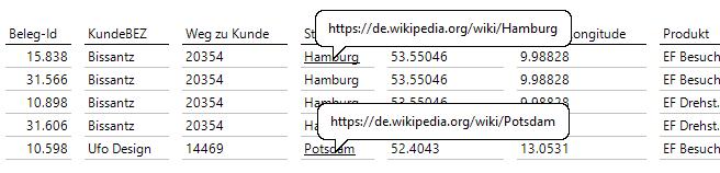 Dynamisch erzeugte Links zur Wikipedia