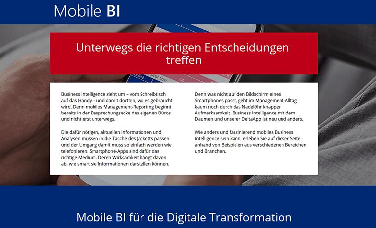 Mobile-BI-Seite