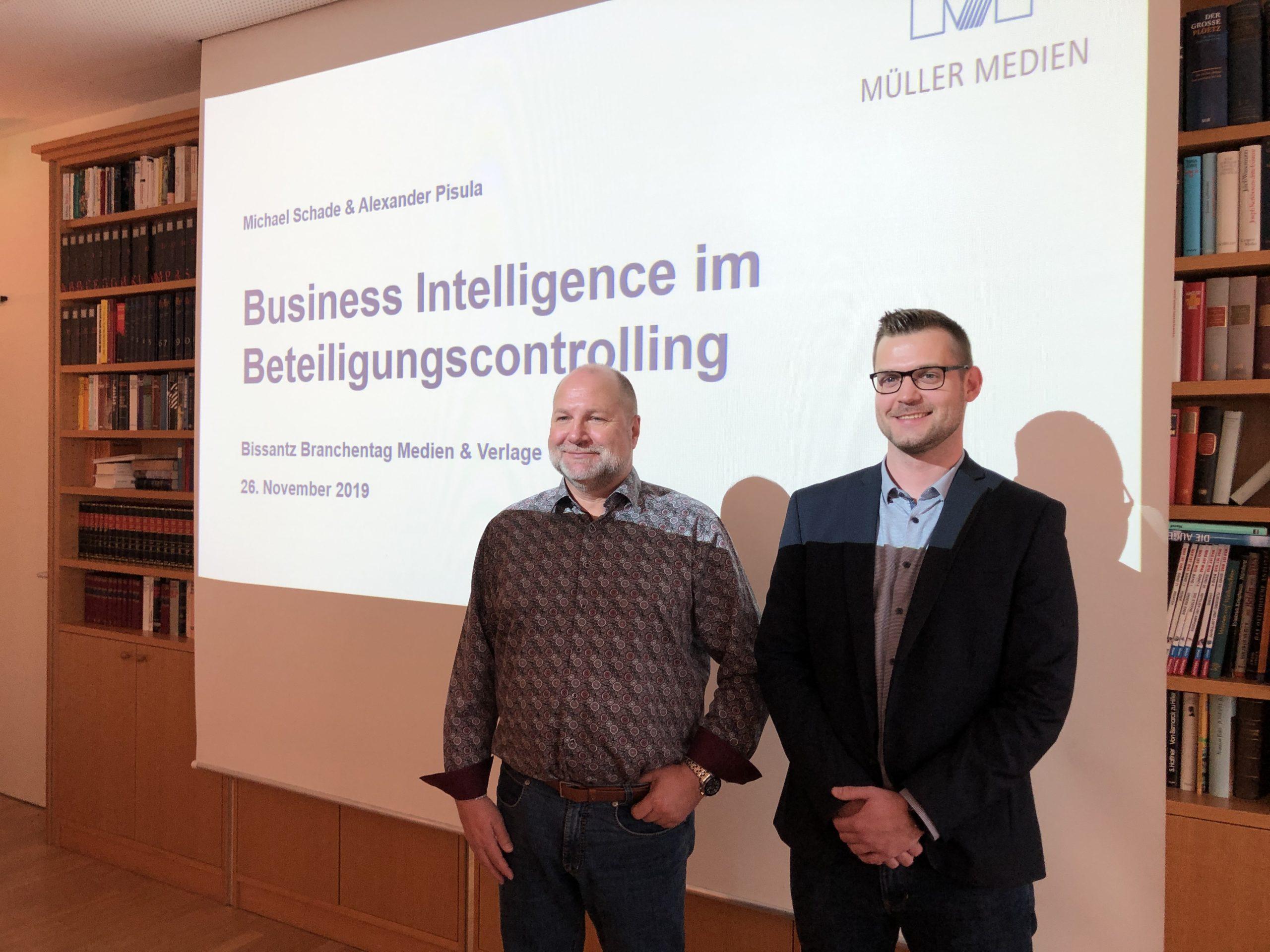 Müller Medien: Michael Schade und Alexander Pisula auf DeltaMaster-Matinee Nürnberg 2019