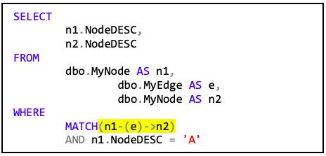 Tabelle5 Code mit WHERE_Klausel, die eine Verknüpfung zwischen n1 und n2 erstellt