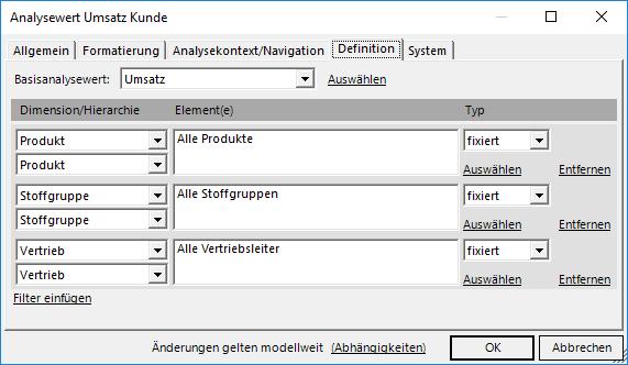 Filterwert Umsatz Kunde
