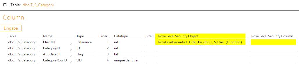 """…kann auch als """"Row-Level Security Object"""" verwendet werden. Die RLS-Column-Spalte bleibt frei."""