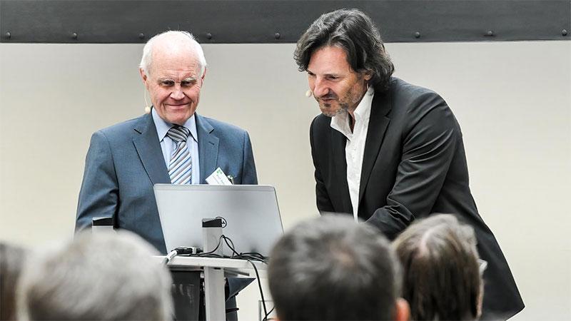 Prof. Peter Mertens und Dr. Nicolas Bissantz