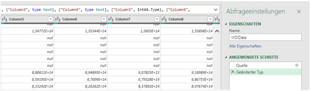 Automatische Änderungen von Datentypen können ggfs. hinderlich sein