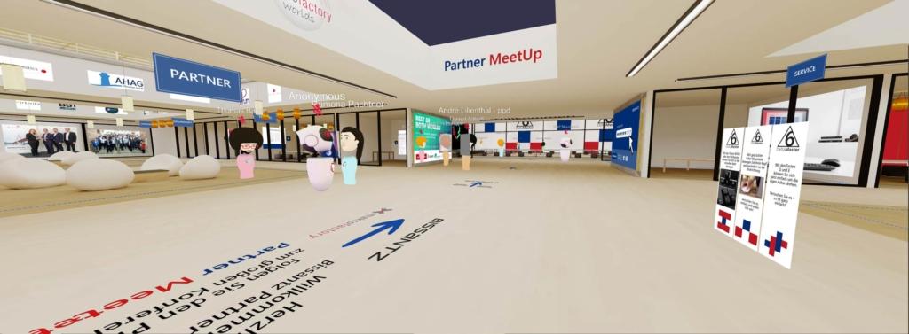 Virtueller Konferenzraum mit verschiedenen Avataren