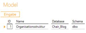 """Data Warehousing - Beispiel für Bericht """"Model"""" beim Konfigurieren einer Parent-Child-Hierarchie in DeltaMaster ETL"""