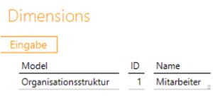 """Data Warehousing - Beispiel für Bericht """"Dimensions"""" beim Konfigurieren einer Parent-Child-Hierarchie in DeltaMaster ETL"""