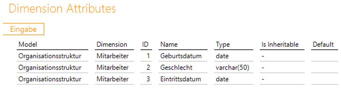 """Data Warehousing - Beispiel für Bericht """"Dimension Attributes"""" beim Konfigurieren einer Parent-Child-Hierarchie in DeltaMaster ETL"""