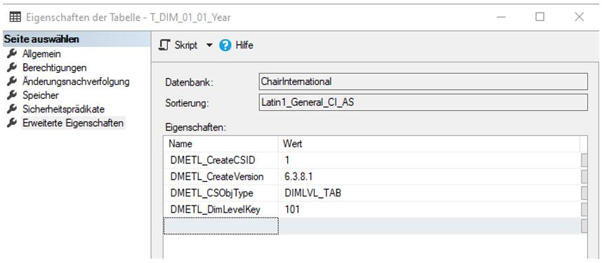 "Ergebnis der Option ""Relational Object Parameters"" in DeltaMaster ETL"