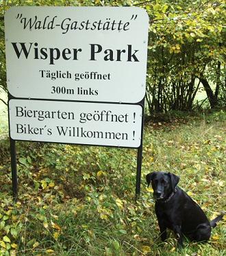 Wald-Gaststätte Wisper Park, Biker's Willkommen!