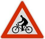 Symbol 138: bikers crossing, old
