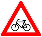 Symbol 138: bikers crossing, new