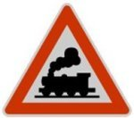 Symbol 151: unguarded level crossing, old