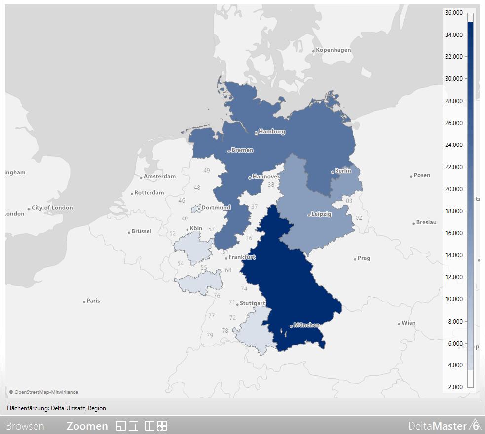 Ergebnis der Geo-Analyse für Regionen