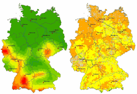 Earthquake and winterstorm risk Germany