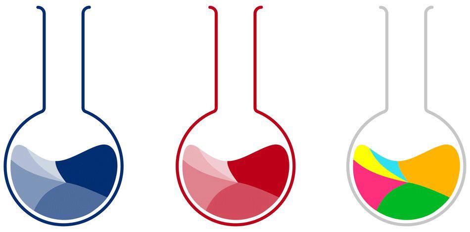 Apropos Farben: Zwei reichen - Rot und Blau