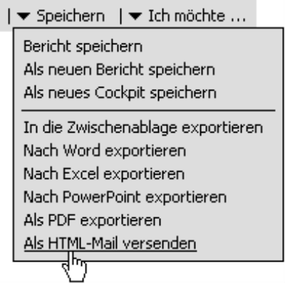 Aufruf des Befehls: Als HTML-Mail versenden
