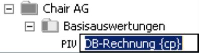 DB-Rechnung {cp} im Bearbeitungsmodus