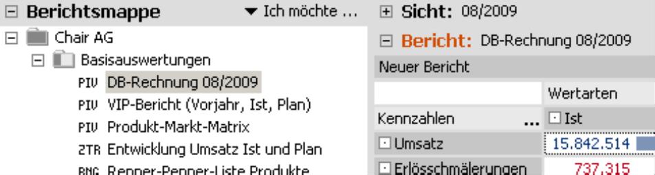 DB-Rechnung 08/2009 in der Berichtsmappe