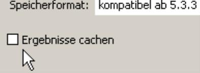 Ergebnisse cachen auf der Registerkarte System