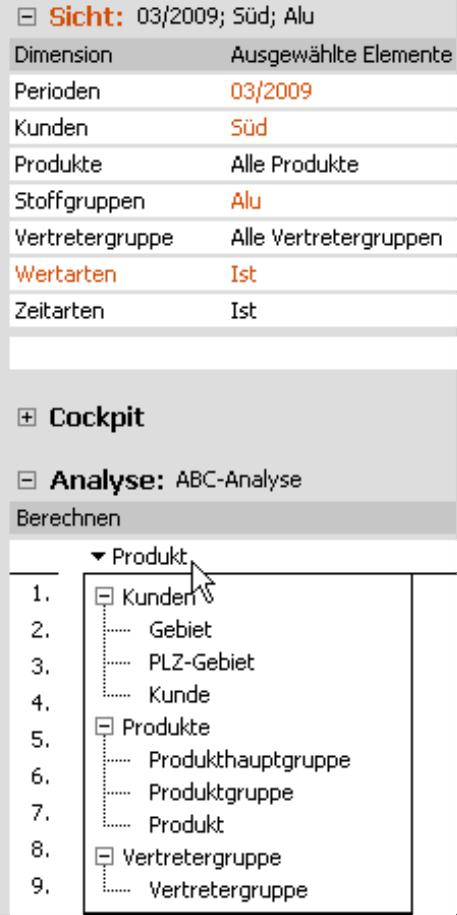 ABC-Analyse im Modus Miner