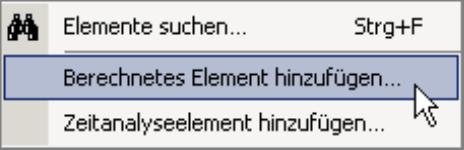 Berechnetes Element hinzufügen