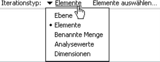 Ebene, Elemente, benannte Mengen, Analysewerte und Dimensionen