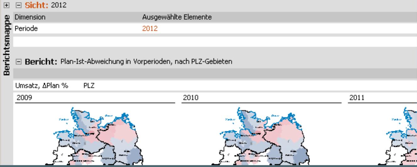 Small Multiples im Modus Viewer: Auswahl der Periode 2012, Anzeige der Jahre 2009 ff.